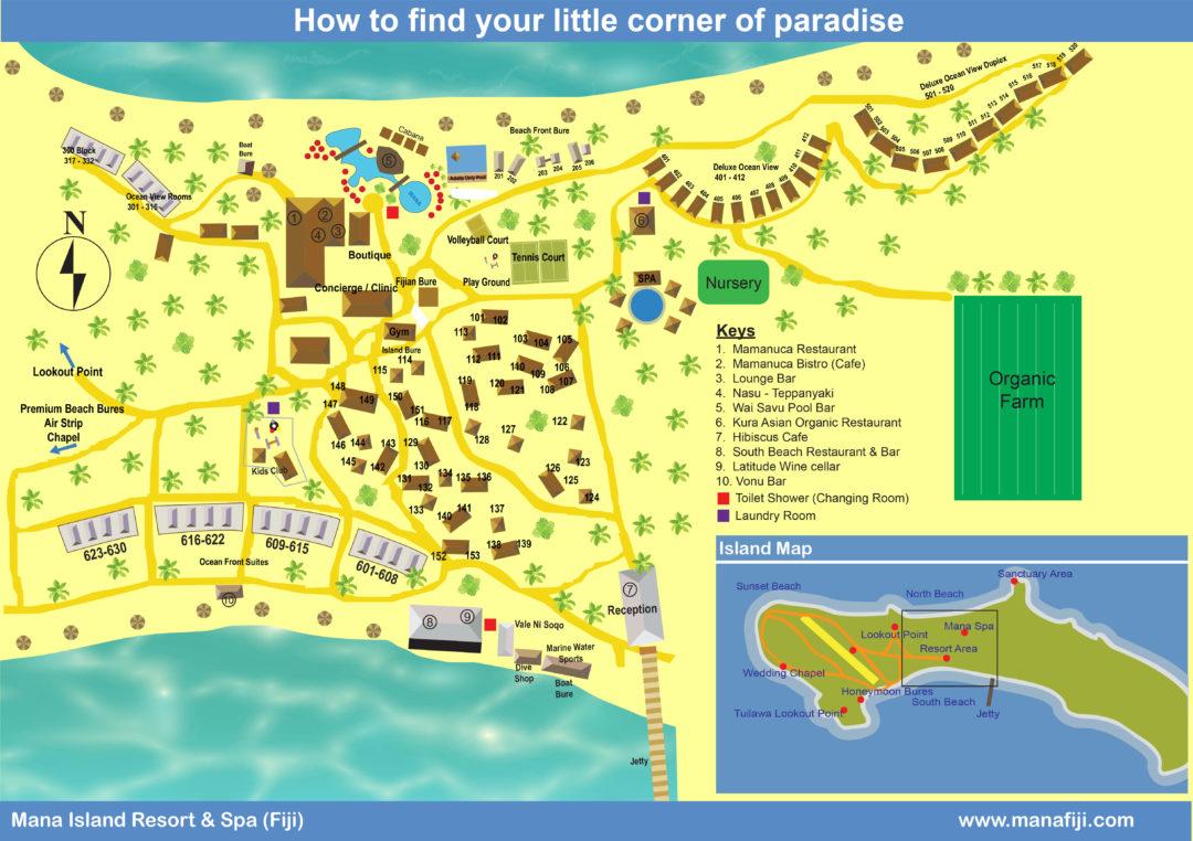 Mana Island Resort Map_Fiji